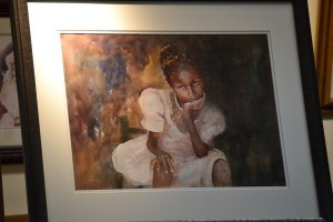One of Misuk's portraits, of a Haitian girl.