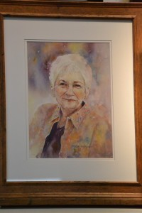 An outstanding example of a portrait by Misuk, of her art instructor Nita Leland.