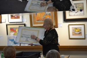 Sandy discusses light values in her drawing, and how the values will determine her approach to to working on a particular subject.