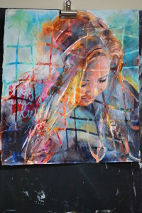 Another example of Trish McKinney's work. A painting of one of her three daughters.